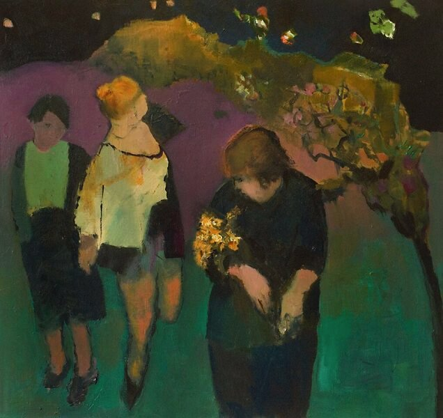 "Jennifer Hornyak, ""Three Women with Marigolds,"" nd"