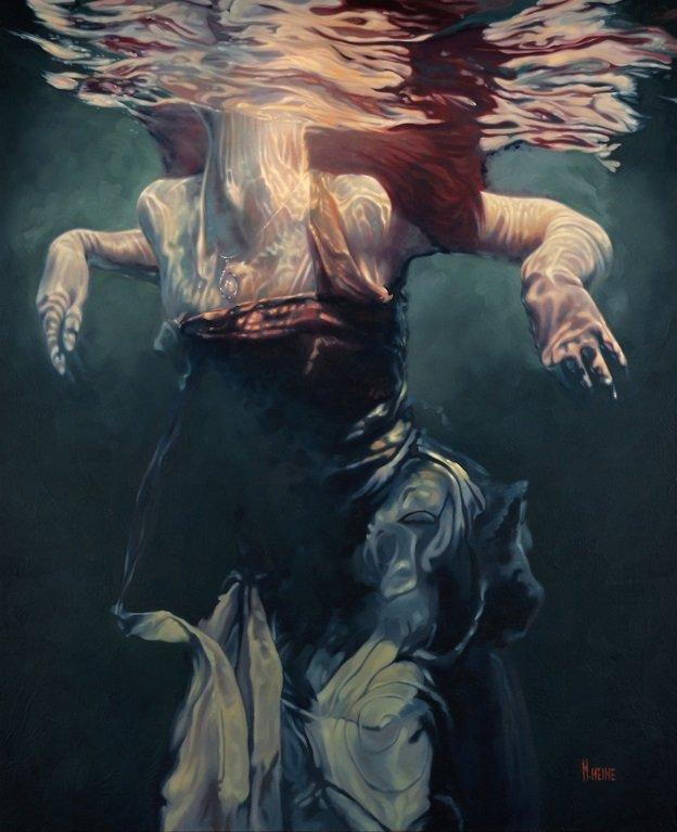 """Mark Heine, """"Duress, Study,"""" 2015"""