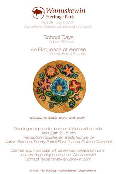 "Sherry Farrell Racette, ""An Eloquence of Women,"" Invitation"