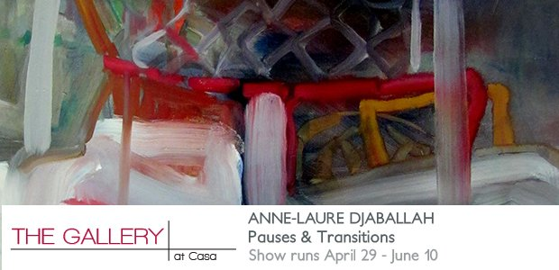 "Anne-Laure Djaballah, ""PAUSES AND TRANSITIONS,"" Invitation"