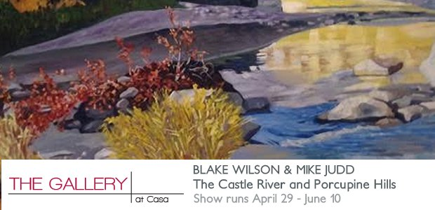 "Blake Wilson and Mike Judd, ""THE CASTLE RIVER AND PORCUPINE HILLS,"" Invitation"