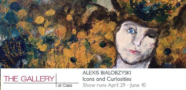 "Alexis Bialobzyski, ""ICONS & CURIOSITIES,"" Invitation"