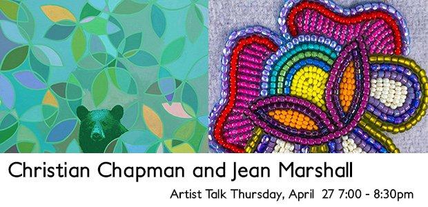 "Jean Marshall and Christian Chapman, ""Artist Talk,"" Invitation"