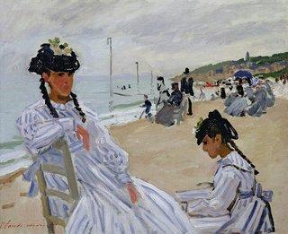 """Claude Monet, """"Sur la plage de Trouville,"""" 1870-71"""