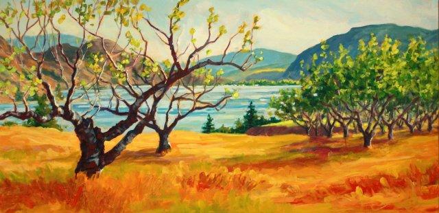 """Robyn Lake, """"Old Cherry Orchard Kaleden,""""  n d"""