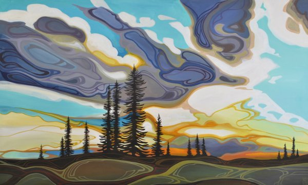 "Erica Hawkes, ""Skies Glory,"" n d"
