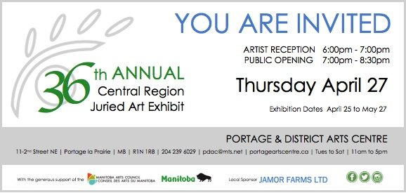 Portage & District Arts Centre, Peoples Choice Award, Invitation