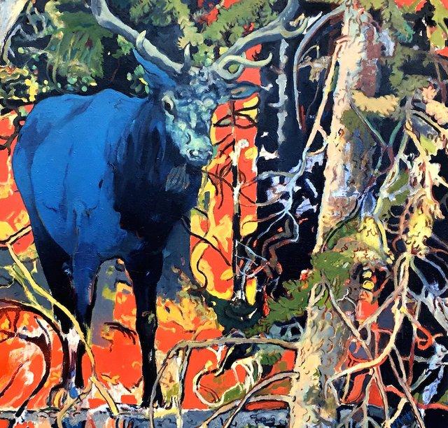 """Karen Maiolo, """"Blue Elk,"""" 2017"""