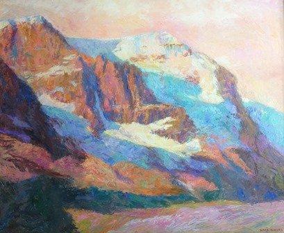 """Susan Elkins, """"Mount Athabasca,"""" n d"""