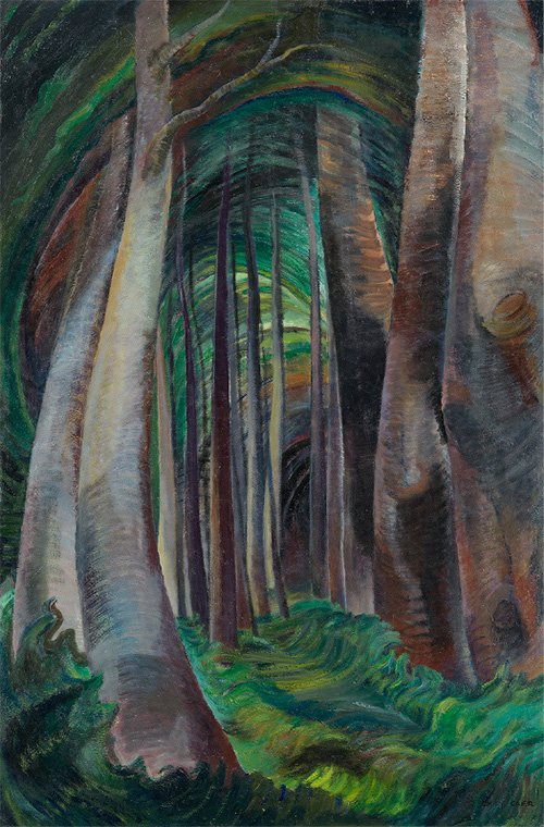 "Emily Carr, ""Wood Interior,"" 1932–35"
