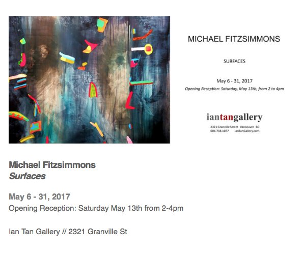 "Michael Fitzsimmons, ""Surfaces Invitation"""