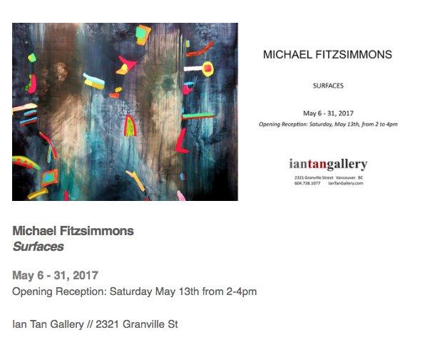 "Michael Fitzsimmons, ""Surfaces Invitation"""