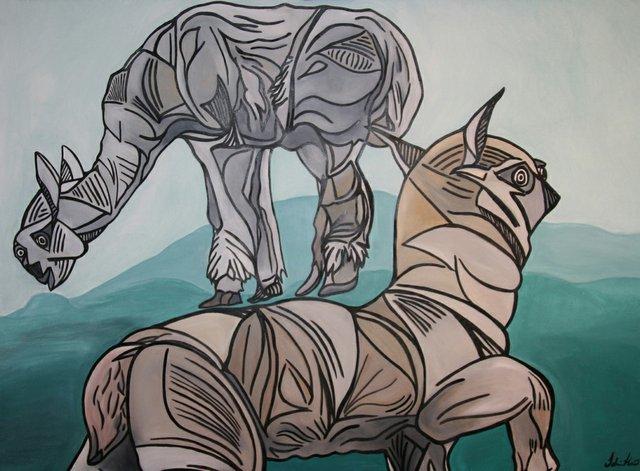 """Tahira Karim, """"Llama Llama,"""" 2016"""