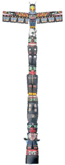 "Charles Joseph, Born in Alert Bay, British Columbia, in 1959, ""Residential School Totem Pole,"" 2014-16"