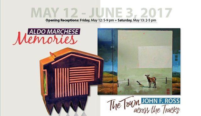 """Aldo Marchese, """"Memories,"""" and John F. Ross, """"The Town Across the Tracks,"""" Invitation"""