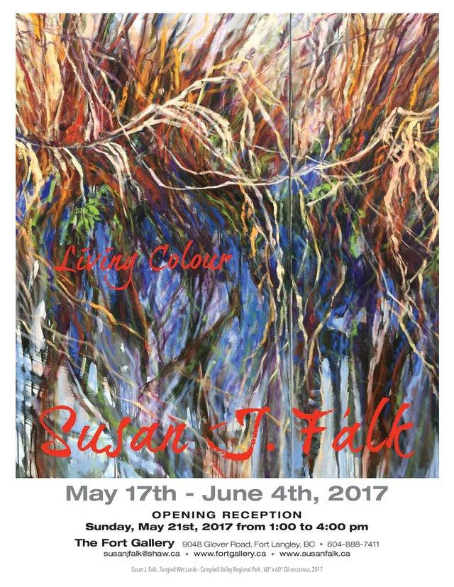 "Susan J. Falk, ""Living Colour,"" Invitation"