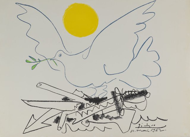 "Pablo Picasso, ""Dove with Olive Branch,"" 1962"